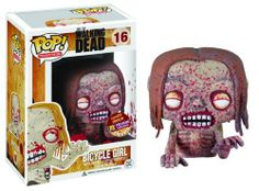Px Pop Walking Dead Bicycle Girl Zombie Vinyl Figure by Funko. $15.89. Straight out of The Walking Dead television show on AMC comes an excellent rendition of the Bicycle Girl Zombie - dirty, deteriorating, and crawling for brains - in adorable Pop! Vinyl form! Brought to you by Funko, this The Walking Dead Bicycle Girl Zombie Pop! Vinyl Figure turns that scary zombie into a cute little 3 3/4-inch vinyl figure.
