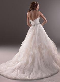 Dreamy Ball Gown Sweetheart Beading Sash  Pick Up Skirt Wedding Dress