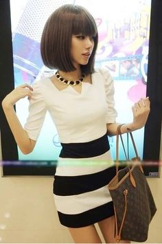09c8eebd3b600 Cute cut out top  lt 3 Patchwork Dress
