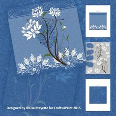 #RosesCard #WhiteRoses #roses #blue #flowers #DIYCards #craftsuprting #CardMakingKit #LaceCards