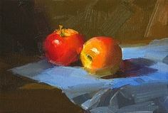 Daily Paintworks - Search through our over Paintings: New Original Fine Art Daily Paintings; Oils, Acrylics, Watercolors, and more from a growing group of Daily Painters Skull Reference, Apple Painting, Still Life Fruit, Daily Painters, Painting Still Life, Fine Art Gallery, Art For Sale, Aesthetic Wallpapers, Oil On Canvas