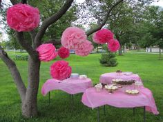 Outdoor party. Simple and pretty.