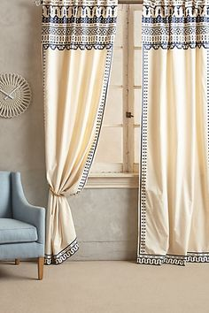 "Embroidered Aravalli Curtain - anthropologie.com | cotton | 42""w 