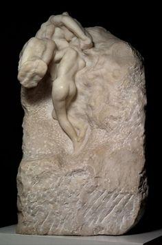 Auguste Rodin (1840 -1917) La Terre et la Lune ou Le Soleil et la Lune ou L'Ame se détachant de la matière, vers 1898-1899 Praticien : Raynaud, 1900-1901 Marbre - 12,5 x 78 x 58 cm Paris, Musée Rodin Photo : Ch.Baraja