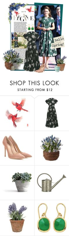 """""""The Duchess of Cambridge Stuns in Rochas"""" by mf-fashion-and-styling-perth ❤ liked on Polyvore featuring Chelsea Flower, Marni, Gianvito Rossi, Esschert Design, Monica Vinader, katemiddleton, rochas and duchessofcambridge"""