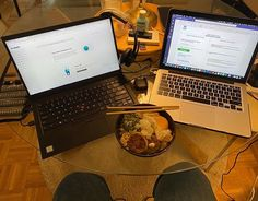 Start of week 2 of teleworking. I requisitioned the dining table. Lunch break: build your own with chicken patties leftover steamed broccoli fried egg and spring onion. Whats your version? Chicken Patties, Steamed Broccoli, Ramen, Onion, Egg, Dining Table, Lunch, Spring, Instagram