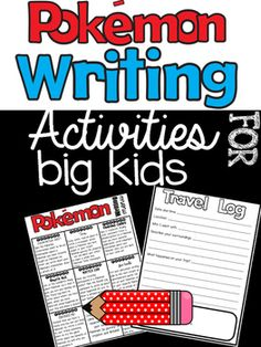 """We are always looking for new ways to engage our students. With the excitement around """"Pokemon Go"""", this activity is sure to pull your students write in! This packet can be used as homework, center work, early finisher work, or as a whole class. I have included a choice menu to hang up at your writing center or send home for HW-- it can be used like a tic-tac-toe menu."""