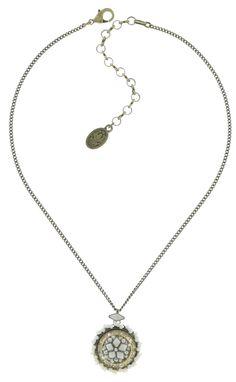 Halskette hängend Oriental Bliss weiß
