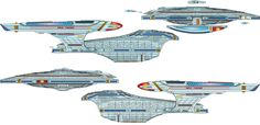U.S.S. Arrogant - PRIMARY AND SECONDARY HULL SEPARATION. SIDE VIEWS