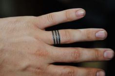 Three Circle Ring Tattoo Meaning His Family, Her Family, And Christ Becoming 1 Family.