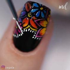 Nail Art Hacks, Nail Art Diy, Diy Nails, Manicure Ideas, Nail Art Designs Videos, Nail Art Videos, Nail Designs, New Nail Art Design, Nail Design Video
