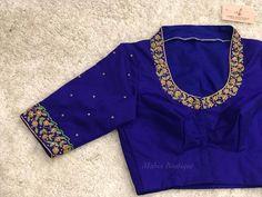 """Simple and elegant blouse design . DM on Printerest or What's app 9133502232 . Costume :…"" ""Simple and elegant blouse design . DM on Printerest or What's app 9133502232 . Pattu Saree Blouse Designs, Blouse Designs Silk, Designer Blouse Patterns, Bridal Blouse Designs, Simple Blouse Designs, Blouse Back Neck Designs, Work Blouse, Clothes, Elegant"