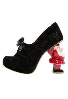 JINGLE - black pump with Santa heel.