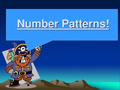 Number Patterns/Number Sequences pirate resources