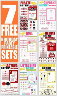 """Some of you know my """"day job"""" is as a graphic designer. I share lots of free printables on my site. Well with the holiday season fast approaching and our wallets quickly growing smaller, I thought it was a good time to do a quick round up of my FREE birthday printables so your little's …"""
