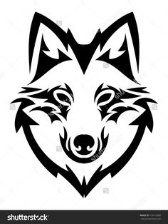 Beautiful Wolf Tattoo.Vector Wolf'S Head As A Design Element On Isolated Background - 416413888 : Shutterstock