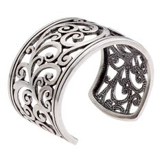 Tendril Cuff-Silver Bracelet Lovely and sturdy so i wont break first time i go out