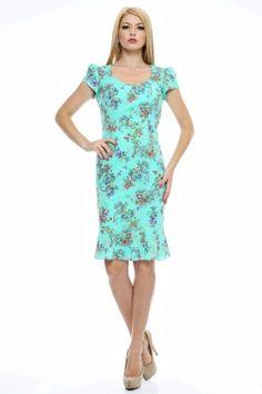 Rochie imprimata bumbac cu decolteu in V. Dresses For Work, Fashion, Moda, Fashion Styles, Fashion Illustrations
