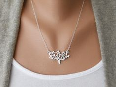 Dainty Tree Necklace by morganprather on Etsy, $23.00