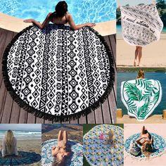 Round Mandala Indian Hippie Boho Tapestry Beach Picnic Throw Towel Mat Blanket z #Unbrand