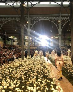"""THE SHOW"" @virgilabloh @off____white thank you 🌪 Off White Fashion, Catwalk Design, Set Design, Dior, Fashion Show, Floral, Instagram, Stage Design, Dior Couture"