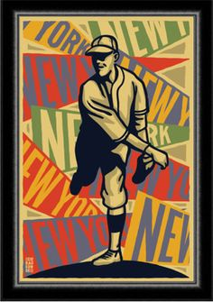 1920s Art Deco Posters | Art Deco 1920's New York Baseball Poster Giants Yankees