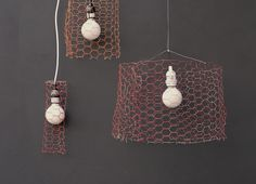 DIY chicken wire pendants by A Subtle Revelry