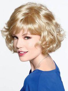 Capless Wavy Short Synthetic Wig