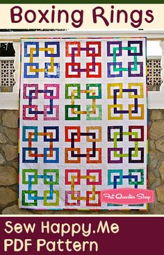 Boxing Rings Downloadable PDF Quilt Pattern Sew Happy.Me - Fat Quarter Shop
