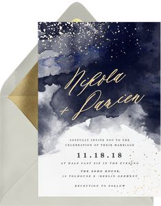 Fully customizable invitations blended colors blue wedding that wow. Easily create, send & track your dreamy flora invitations online. Star Wedding, Wedding Story, Wedding Themes, Wedding Designs, Wedding Cards, Wedding Colors, Dream Wedding, Blue Wedding, Wedding Stationary