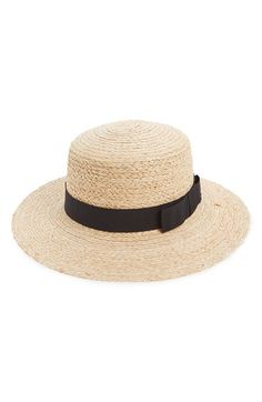 Free shipping and returns on Sole Society Floppy Straw Hat at Nordstrom.com. A bow-embellished grosgrain ribbon adds a touch of vintage style to a woven straw hat with a floppy brim to keep you shielded from the sun.