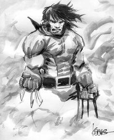 Kaare Andrews - Wolverine Comic Art