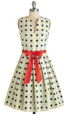 Dot + bow dress