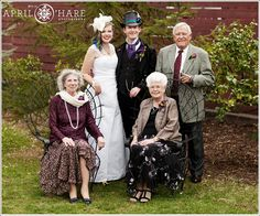 We used the greenery in the backyard for some of the formal photos.  Taken at a spring wedding at the McCreery House in April. - April O'Hare Photography #Colorado #ColoradoWedding #ColoradoWeddingPhoto #LovelandWedding #Loveland #LovelandWeddingPhoto #Steampunk #SteampunkWedding #Springwedding #McCreeryHouse
