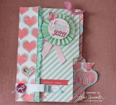 Valentine Mini Album using For the Love Kit by Heidi Swapp & Jessica Sprague