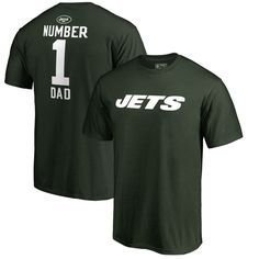 New York Jets NFL Pro Line by Fanatics Branded Big & Tall Number 1 Dad T-Shirt - Green