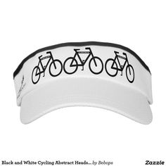 Black and White #Cycling Abstract Headsweats Visors @bebopsplace