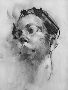 Contemporary Charcoals: Damian Goidich – Nitram Charcoal - Everything About Charcoal Drawing and Sculpture Sketches Of People, Drawing People, Art Sketches, Art Drawings, Contour Drawings, Hipster Drawings, Drawing Faces, Pencil Drawings, Gesture Drawing