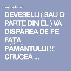 DEVESELU ( SAU O PARTE DIN EL ) VA DISPĂREA DE PE FAȚA PĂMÂNTULUI !!! CRUCEA ...