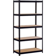 Ultra Rack   5 Shelf   The Edsal 36 In. 5 Shelf Ultra Rack Is Ideal For The  Garage Or Workshop. This Modular Boltless Rack Features A Two Piece Post  System ...