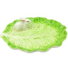 Cabbage Ceramic Bunny Plate, found at TuesdayMorning.com @tuesdayam
