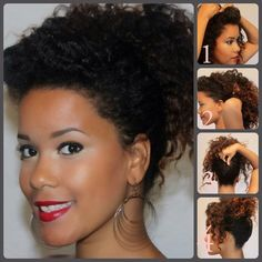 Natural Curly Hair Style: Section off your bang, and pin it back, pushing the. - Natural Curly Hair Style: Section off your bang, and pin it back, pushing the hair forward. Natural Hair Twist Out, Natural Hair Care, Sisterlocks, Scene Hair, Flat Twist, Nattes Twist Outs, Home Remedies For Hair, Hair Starting, Stop Hair Loss