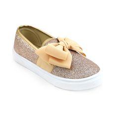 separation shoes 9327c 7602f Girls Bow Glitter Sneaker