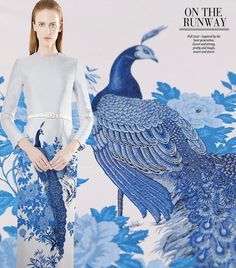 The blue peacock Jacquard fabric, Thick coat fabric, Chinese brocade fabric, Fashion dress fabric - m wide x m long -XY Brocade Fabric, Jacquard Fabric, Satin Fabric, Peacock Fabric, Fabric Birds, Dress Outfits, Fashion Dresses, Big Fashion, Fashion Design