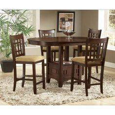 Have to have it. Randolph Cherry Round Counter Height Dining Table $417.99