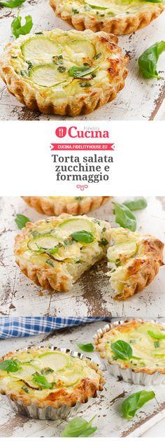 La torta salata #zucchine e #formaggio è un piatto semplice da realizzare ma davvero buono e sfizioso.