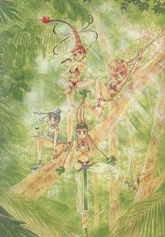 The Amazon Quartet, artwork by Naoko Takeuchi for Sailormoon