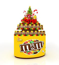 M&Ms stand on Behance