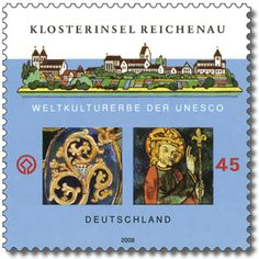 Stamp Klosterinsel Reichenau German Stamps, Stamp Collecting, Countries Of The World, Postage Stamps, Germany, Collections, History, Seals, World