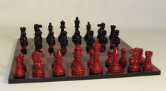 WorldWise Black and Red Lacquer Classic Set 37GBRC-BRG